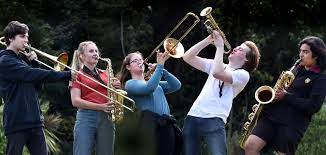 Saxophone, Trumpet, Trombone & Clarinet Section Play with Lana law